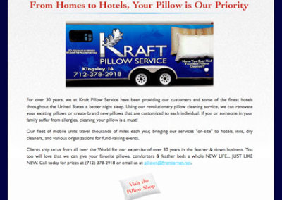 Kraft Pillow Service