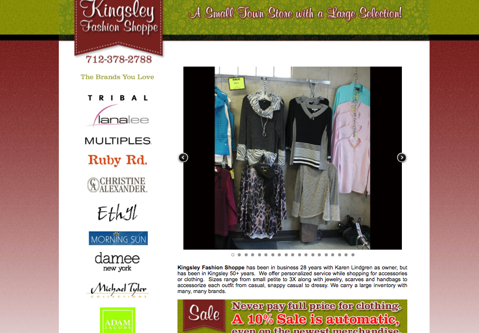 Kingsley Fashion Shoppe Website